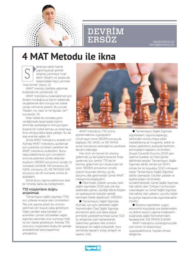 4 MAT metodu ile ikna